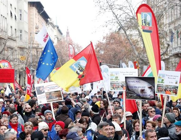 europe times european news trendy Hungarians protest slave law Thousands take to streets in hungary