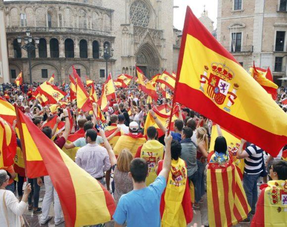 Protest against Catalan independence referendum