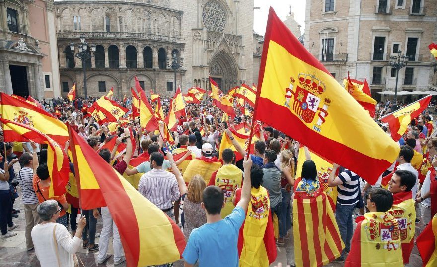 Protest against Catalan independence referendum
