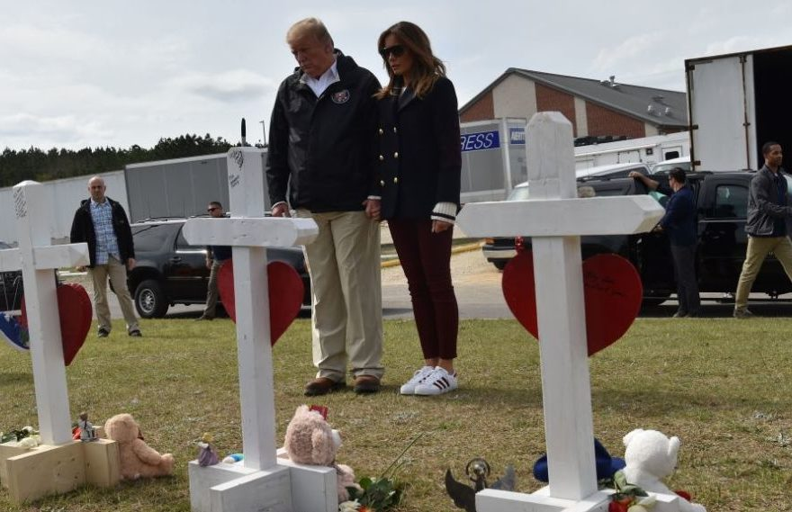 Donald Trump Visits Alabama After Tornadoes