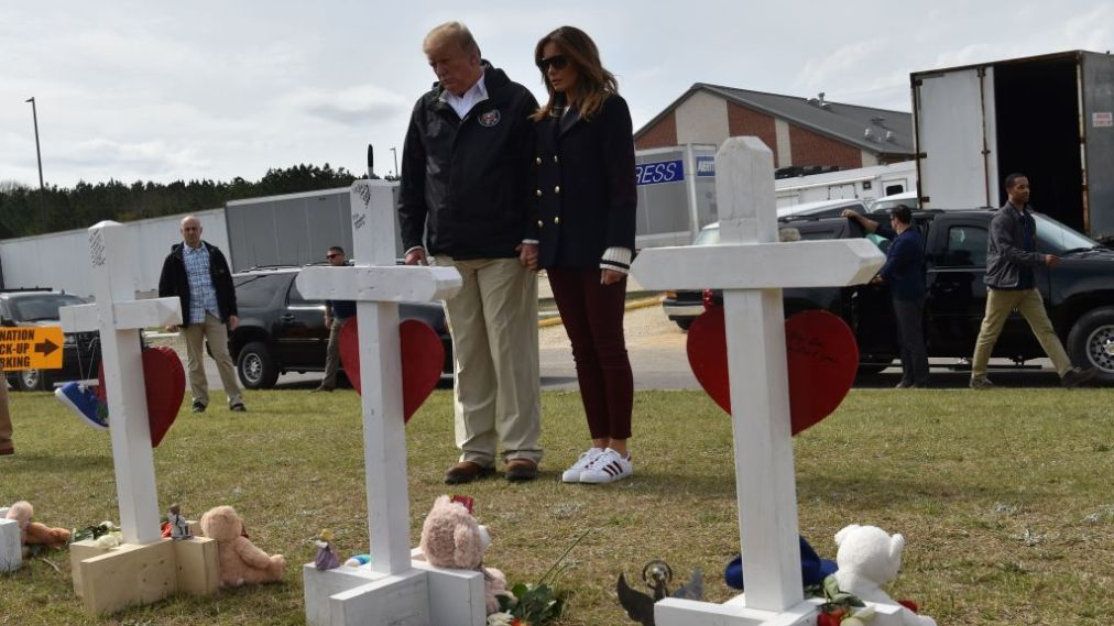 Donald Trump Visits Alabama After Tornadoes